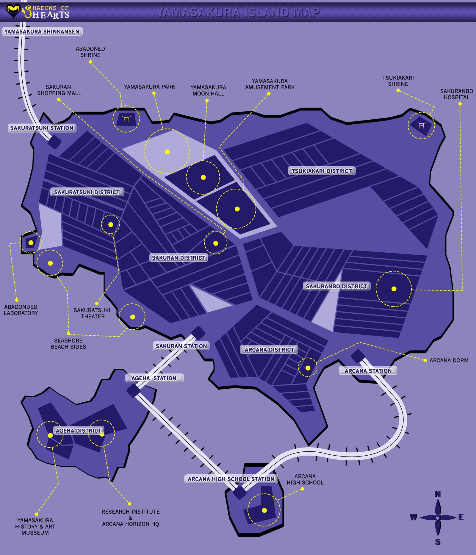 SoH: Yamasakura Island Map by nekomakino