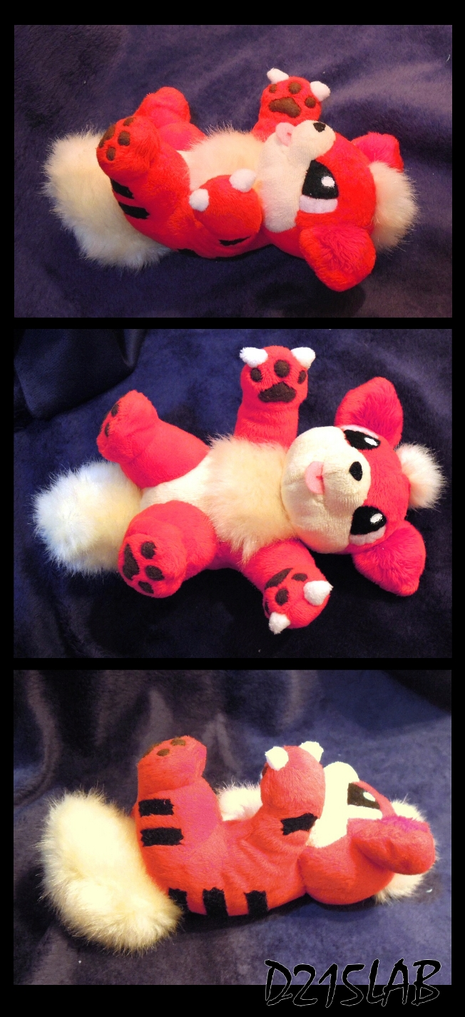 Growlithe plush by d215lab
