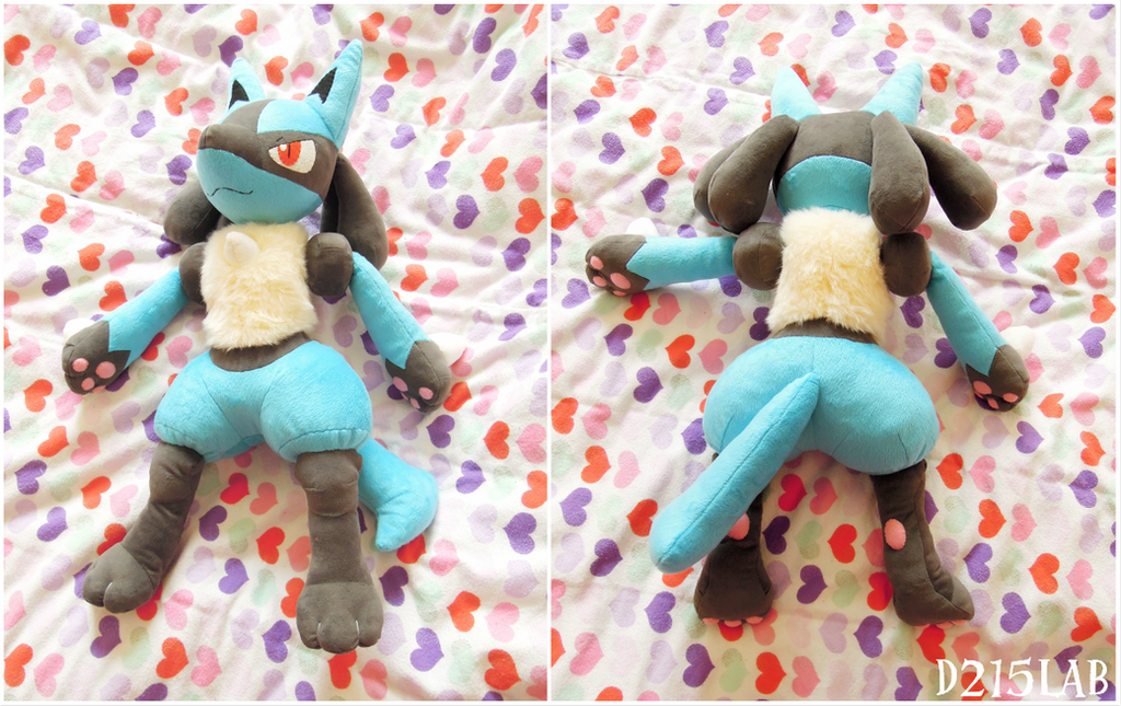 Lucario plush by d215lab