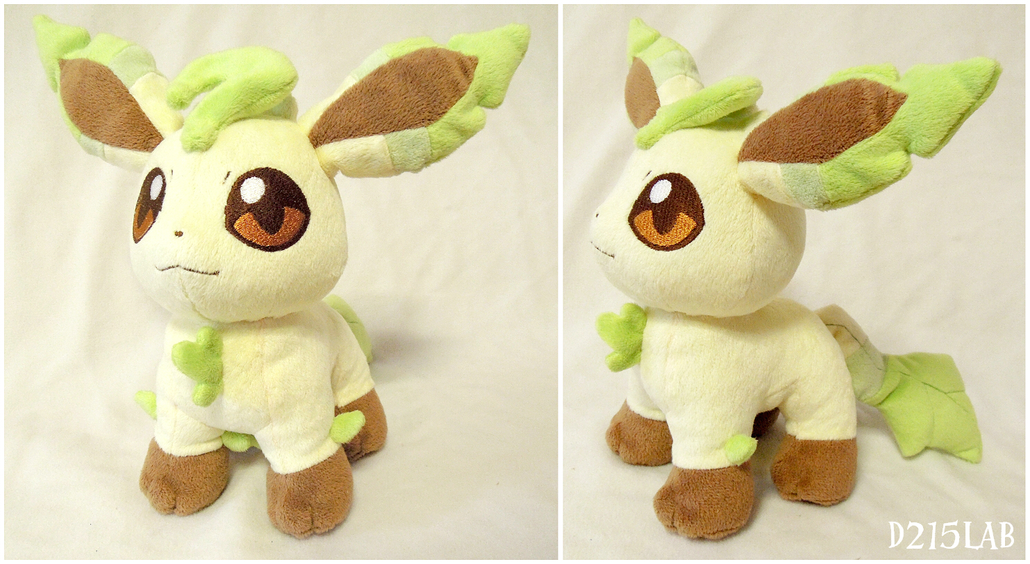 Leafeon plush by d215lab