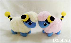 Mareep Plush by d215lab