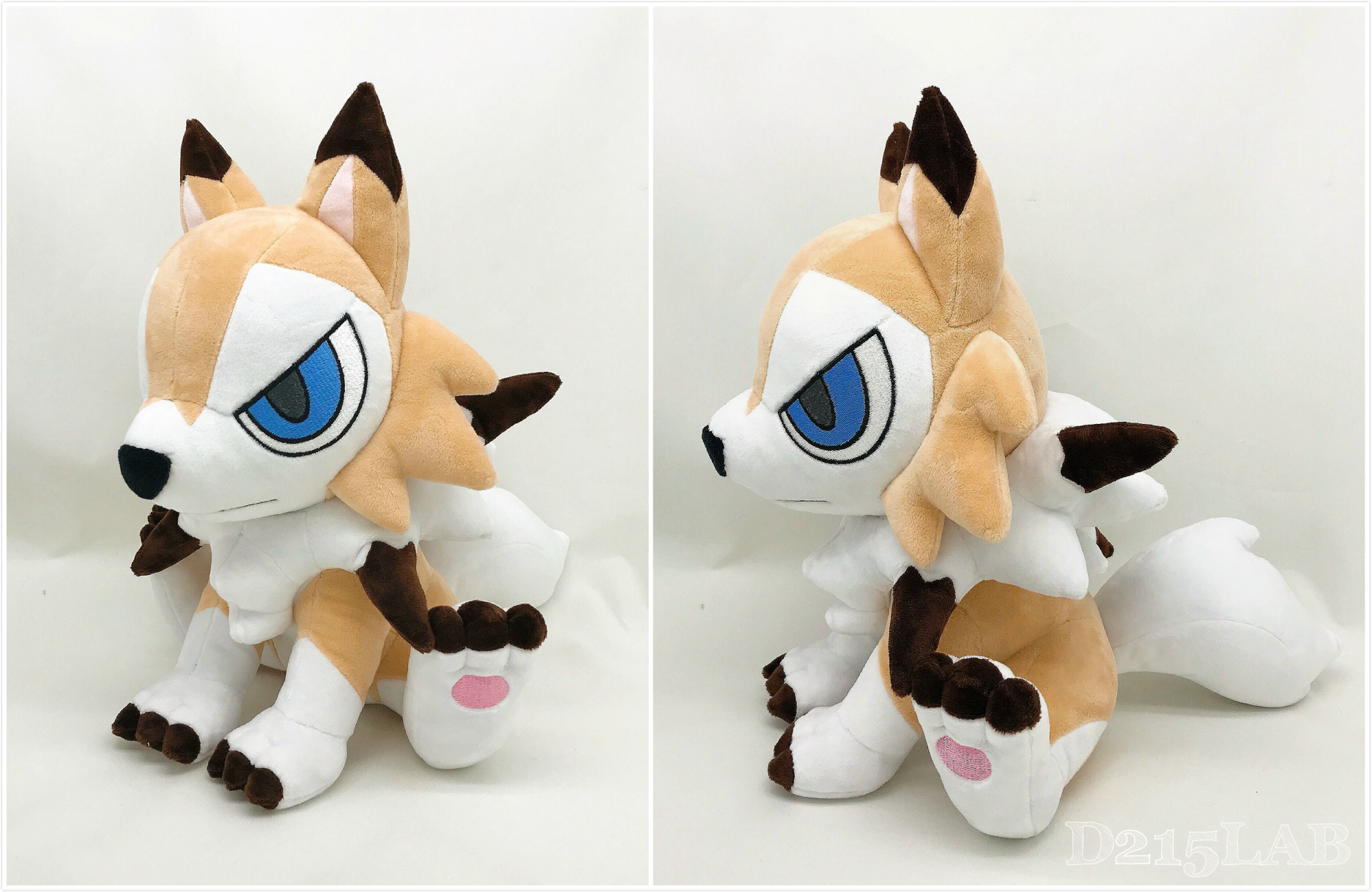 Midday Lycanroc Plush by d215lab