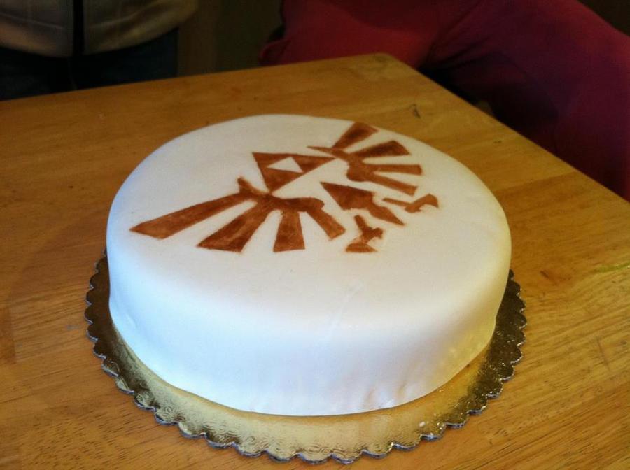 Zelda Triforce Cake by Major-Link
