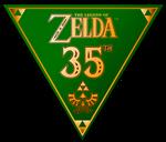 Zelda 35th Anniversary Triangle Logo - Gold
