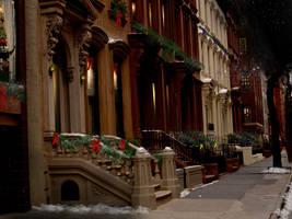 Christmas Street Stock by mirrorimagestock