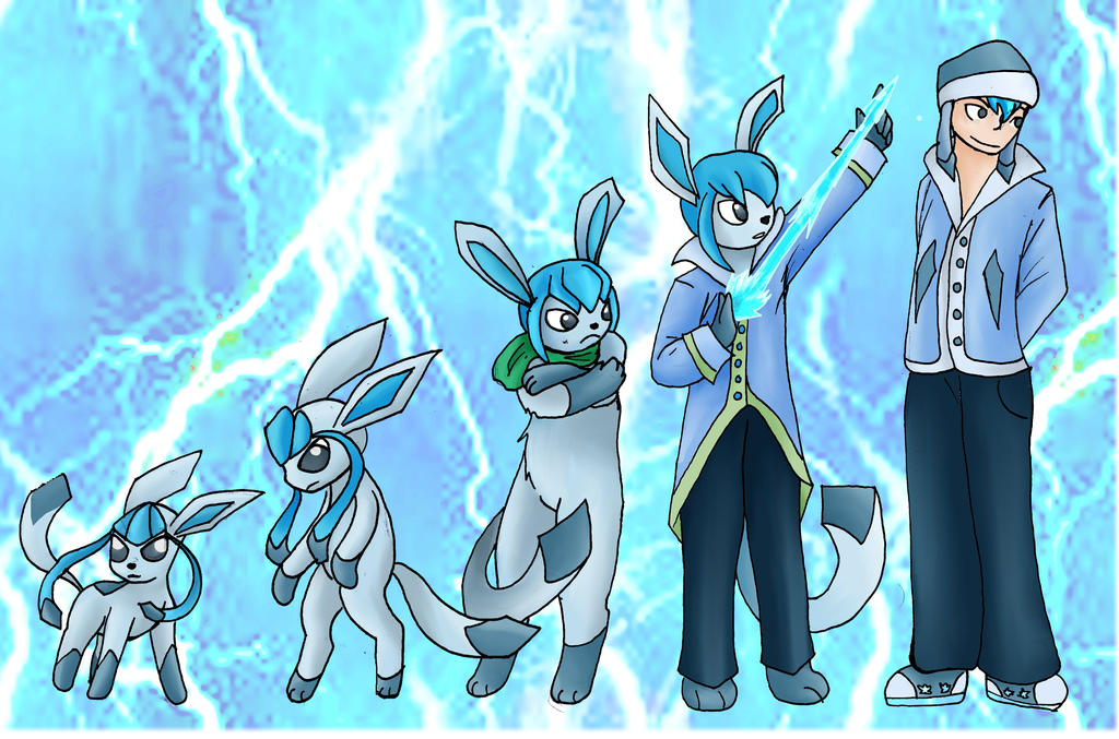 Glaceon And Umbreon Human