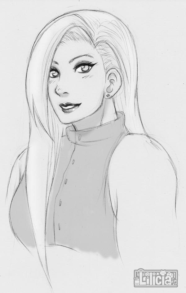 INO YAMANAKA Movie Sketch by Lilicia-Onechan