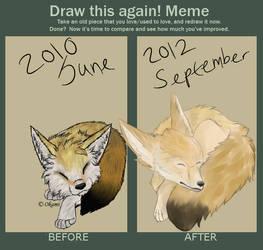 Draw This Again - Fennec Fox by OkamiShiri