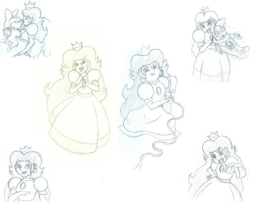 Princess Toadstool Doodles by Manik-Needlemouse