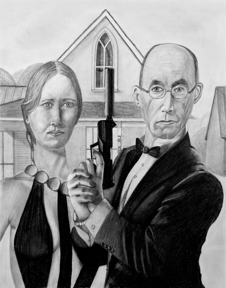 American Gothic Parody By Eightfold Studios
