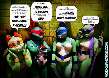 TMNT Rule 63 - Missing the Point by Foayasha