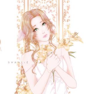 Aerith Final Fantasy 7 vii Remake Flower Fanart