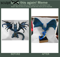 Blue dragon before and after!