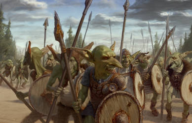 Goblins marching (The Ninth Age) by Chozobudgie