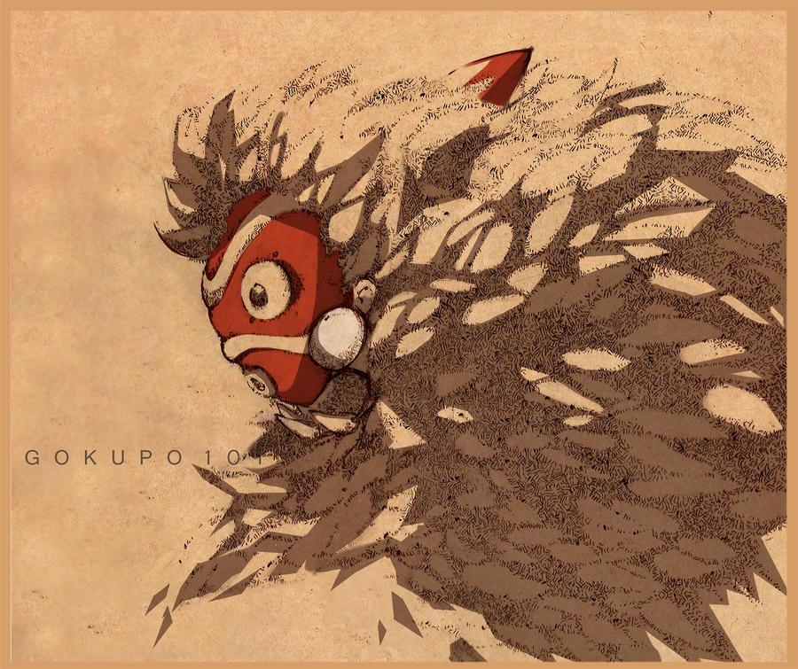 Sketch - Mononoke Hime by Gokupo101