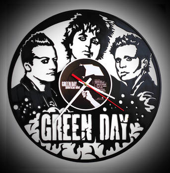 Wall clock Green Day by Strebkov82