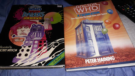 possibly some of the oldest Doctor Who books i own