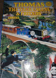 my old annual of Thomas the Tank Engine  Friends