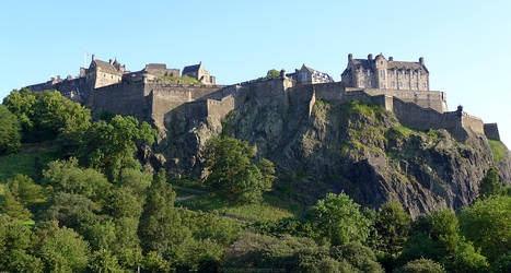 Edinburgh Castle from north