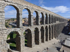 The Aqueduct at Segovia by bobswin