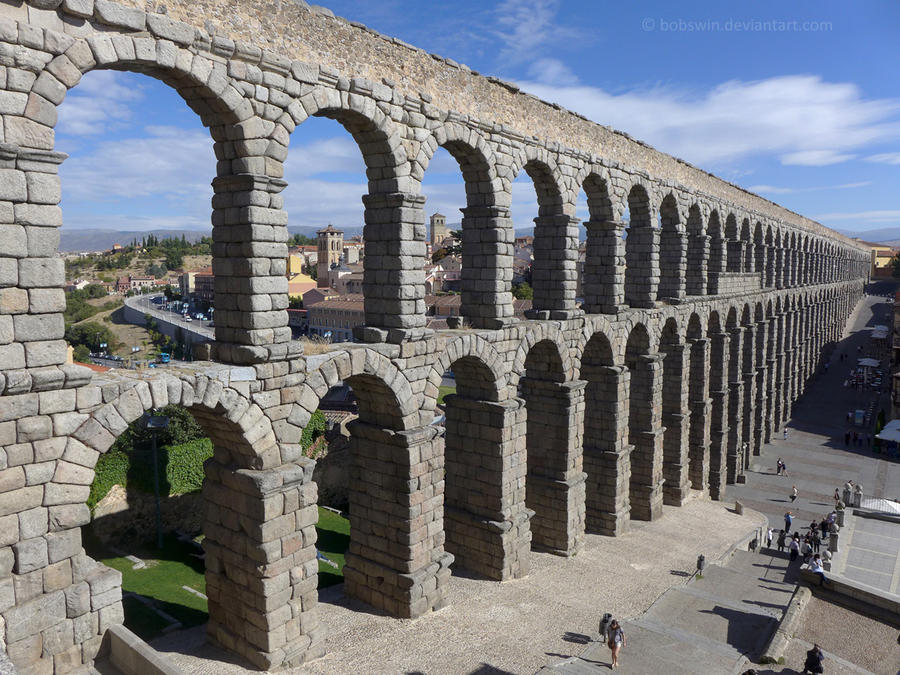 The Aqueduct at Segovia by bobswin on DeviantArt