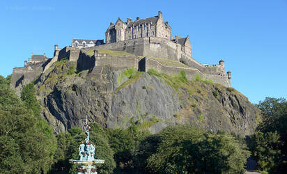 Edinburgh Castle from the North West by bobswin