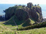 Dunnottar Castle from the West by bobswin