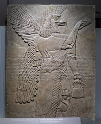 Assyrian Relief from Nimrud by bobswin