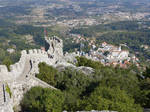 Sintra from Castelo dos Mouros by bobswin