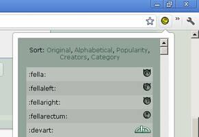 Emoticon list Chrome Extension by NAkos