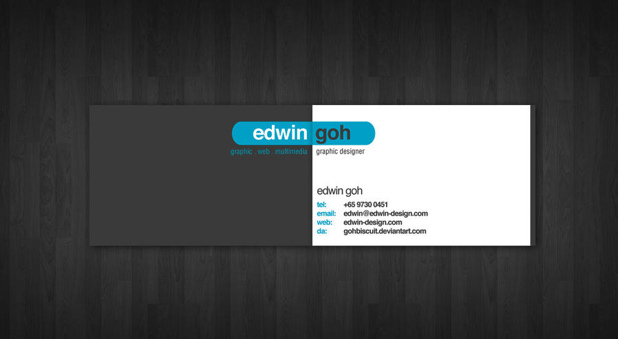 Personal Name Card - Sample by gohbiscuit on DeviantArt