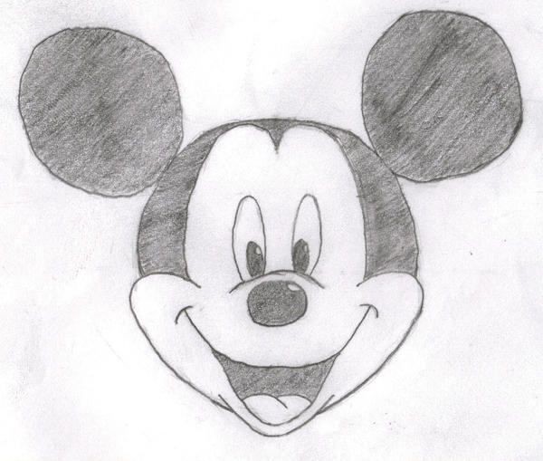 Mouse Pencil Drawing Mickey Mouse Head Sketch