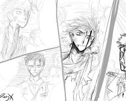 Sketch War comic by GreenSpoi