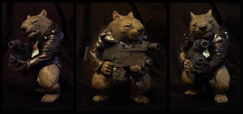 Max Damage the Combat Wombat by KlausTeufel