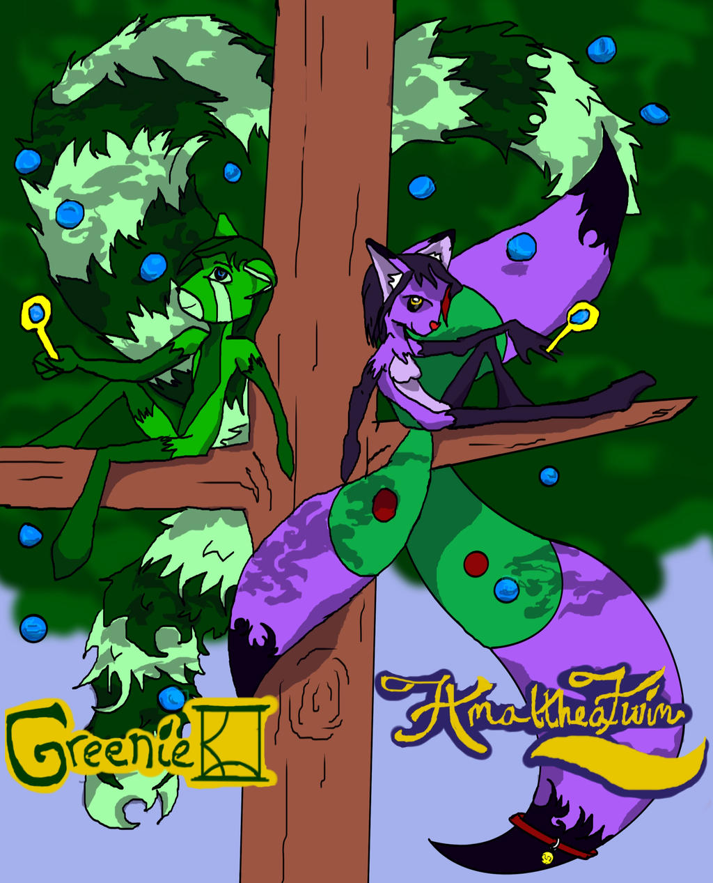 Greenie and AmaltheaTwin Badges by AmaltheaTwin