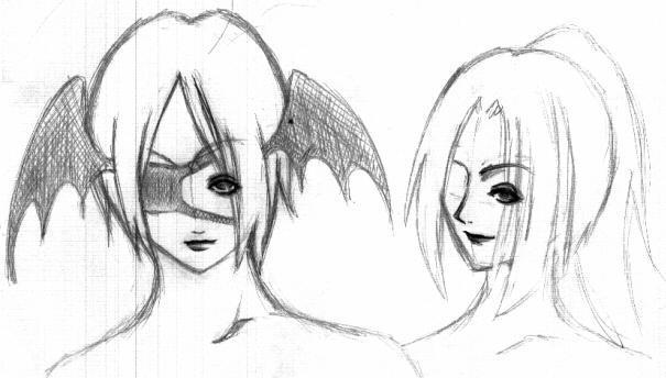 Yurameki and Kodou by saltedeffey