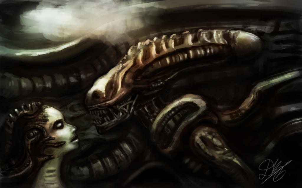 Giger tribute by Dkaz