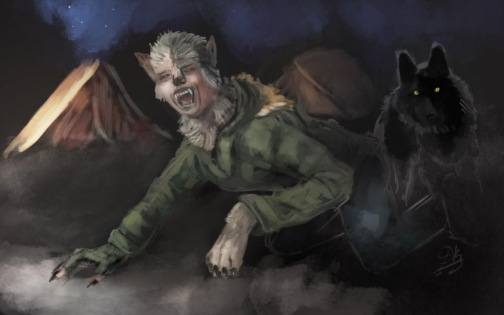 Speedpainting commission: Werewolves among us by Dkaz