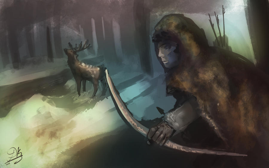 Speedpainting: Hunter by Dkaz