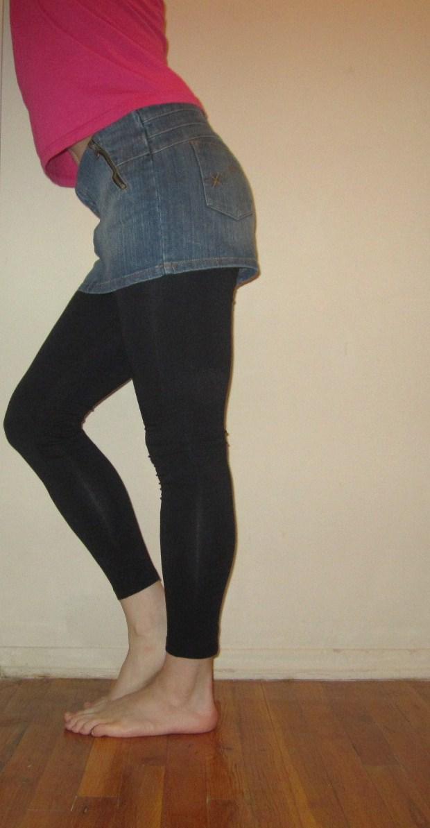 Denim Skirt Leggings 8