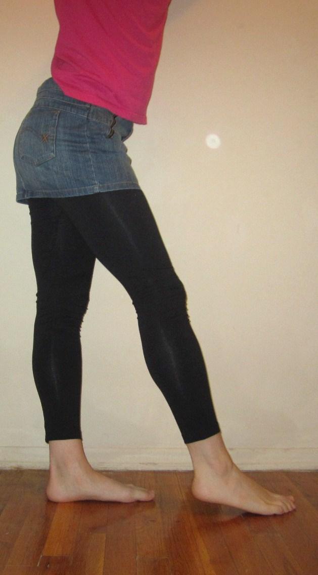 Denim Skirt Leggings 93