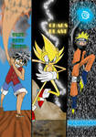 Sonic, Naruto and Luffy