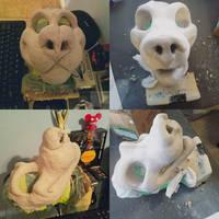 Then vs Now: Dog/Wolf/Fox Headbase Sculpt