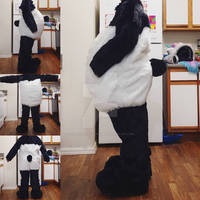 Panda Bodysuit, Tail, and Feetpaws Commission