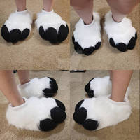 Etsy: Black and White Feetpaws Commission