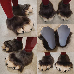 Premade (For Sale): Brown and Tan Feline Feetpaws