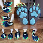 Dragondog Partial Commission WIP: Base of the Feet by RageandRoarCustoms