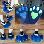 Indoor Knee-High Feetpaws Commission WIP: The Base by RageandRoarCustoms