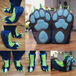Dragondog Partial Commission: The Knee-High Feet by RageandRoarCustoms