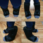 Cryptid Partial Commission: The Knee-High Feet by RageandRoarCustoms